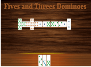 All Fives and Threes Domino