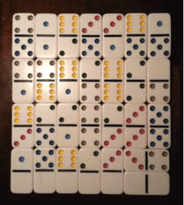 Face the domino playing