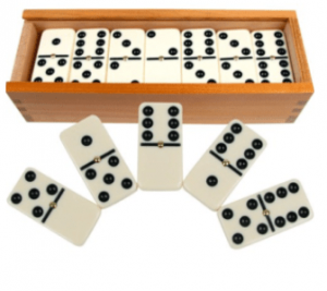 Double Six Rosewood Wooden Domino
